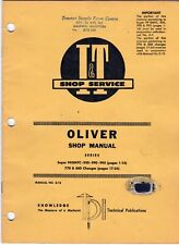 I&T Shop Manual O-13 Oliver Tractors 99GMTC 950 990 995 770 880 meac23