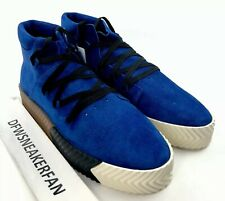 Alexander Wang X Adidas Originals Men's 11 Skate Mid Shoes Blue Suede AC6849