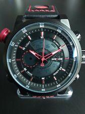 BIG FACE 50mm Weide Watch Dual LCD Analog Miyota Japan Quartz Movement WH-3401