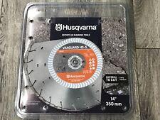 "Husqvarna VANGUARD HS-5 14"" 350mm Concrete Diamond Saw Blade (SILVER-NEW)"