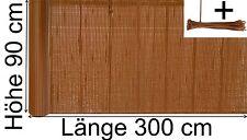 PVC Sichtschutzmatte 90 x 300 cm Sichtschutz Zaun Balkon Blickschutz braun rot