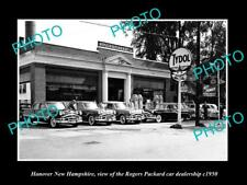 OLD LARGE HISTORIC PHOTO OF HANOVER NEW HAMPSHIRE THE PACKARD CAR STORE c1950