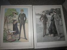 1916 Clothing Catalog Mens Suits Large Color Illustration Lot