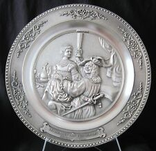 WMF Zinn Pewter Hanging Plate f. Rembrandt Van Rijn -10.25 in - New Old Stock