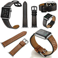 Leather Watch Band Wrist Strap for Apple Watch iWatch Series 4 40/44MM