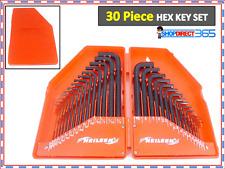 30 PIECE HEX KEY ALLEN ALAN ALLAN KEY SET KIT WITH CASE HARDENED STEEL UK CT1560