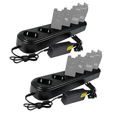 2X Six-way Single Row Rapid Charger for Retevis RT8 TYT MD-390 Radio+Power cord