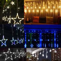 Valentine's day Romantic Star String Fairy Curtain Light Wedding Xmas 138LED