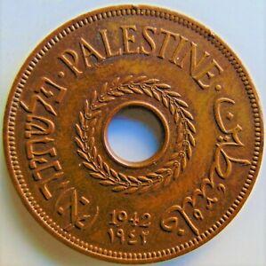 1942 PALESTINE, 20 Mils, brown grading VERY FINE.
