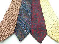 Vintage Men's Ties Neckties 100% Silk Izod Van Heusen Perry Ellis Christian Dior