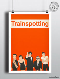 TRAINSPOTTING Minimalist Art Movie Poster Minimal Film Print Posteritty Begbie