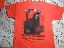 Large- Halloween Beer Humour Horror T- Shirt