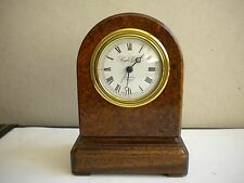 Unusual Knight & Gibbins of London Desk / Mantel Clock with Alarm.