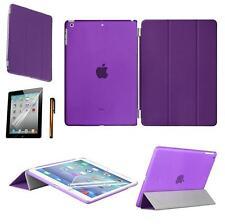 Slim Magnetic Leather Smart Cover w Hard Back Case Sleep/Wake For iPad Air/ Mini