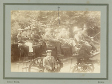 Great Britain, Albert Smith, Group in chaise Vintage albumen print Tirage albu