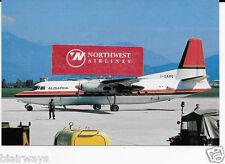 Alisarda Meridiana Airlines Sardinia Italia Fokker F-27 #I-Sarq Postcard