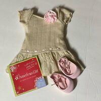 "AMERICAN Girl SWEET SPRING DRESS F3621 18"" Doll NIB RETIRED Dress Shoes Charm"