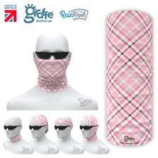 Pink Identity Plaid Check  Multifunctional Headwear Neckwarmer Bandana