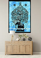 INDIAN WALL HANGING TAPESTRY Elephant Tree of Life Tapestries Hippie Bohemian