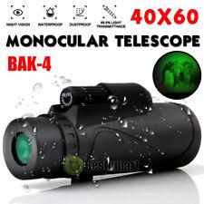 Waterproof 40X60 Night Vision Hd Optical Monocular Hunting Hiking Telescope Bak4