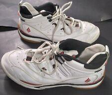 PRINCE EKTELON QT Scream Mid White w/ Black & Red Racquetball Shoes Size US 10