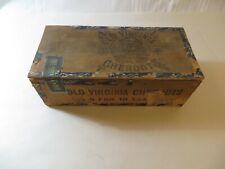 Antique  Old Virginia Cheroots Cigar Box Factory Number 17 P. Lorillard Co.