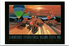 "4""x6"" Postcard Poster card 24th Albuquerque Balloon Fiesta 1995 Hot Air Repro NM"