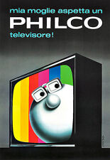 Art Philco Television  Colourful Poster Print