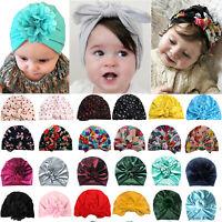 Newborn Baby Head Wrap Boys Girls Turban India Beanie Hats Soft Hospital Cap US