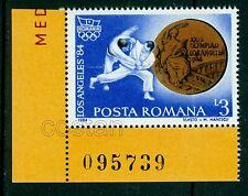 1984 Judo,Mihai Cioc,Mircea Frățică,Judo,Los Angeles Olympic Medals,Romania,MNH
