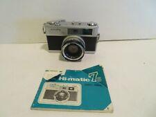 Minolta Hi-Matic 7S camera  with booklet
