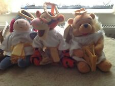 "Disney beanie set of 3 Pooh, Tigger & Eeyore mini bean bag choir boy angel 9"""