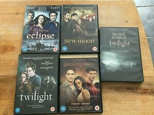 FOUR TWILIGHT DVDS/FILMS/MOVIES - TWILIGHT - ECLIPSE - BREAKING DAWN - NEW MOON