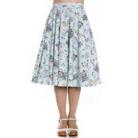 Mint Green Spring Easter Rabbits Chick Skirt  XS S M L XL Full Cotton Circle