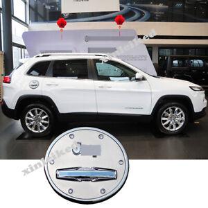 For Jeep Cherokee 2014-2019 Chrome Car External Gas Cap Fuel Tank Cover Trim
