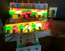 Vintage String of 17 Christmas Tree Bubble Lights Working