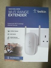 BELKIN N300 UNIVERSAL WiFi RANGE EXTENDER DUAL BAND SPEED INC CD-ROM USER MANUAL