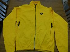 Cannondale Yellow Full Zip Riding Jacket Back Pocket Men's Large Excellent!