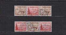 Briefmarken-Zusammendrucke aus dem deutschen Reich mit Schiffs- & Boots-Motiv