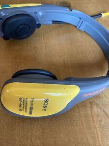 Sony Sports FM/AM Radio Walkman Headphones SRF-HM55 10 Memory Presets TESTED
