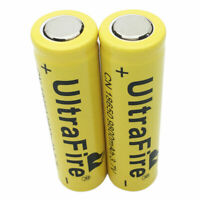 2 X Flat Top 18650 9800mAh Li-ion 3.7V Rechargeable Battery for Flashlight Torch