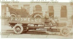 OLD MOTOR PHOTO FRISWELL LTD ARGUS LORRY AS CAR TRANSPORTER VINTAGE C.1908