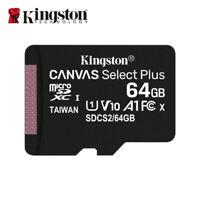 Nouveau Kingston 64Go MicroSD SDXC C10 Cartes Mémoire TF 100MB/s avec Adapteur