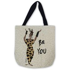 Be You ~ African American Woman Ebony Tapestry Tote Bag ~ Artist, Cidne Wallace