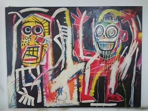 Beautiful old painting oil on Canvas signed Jean Michel Basquiat