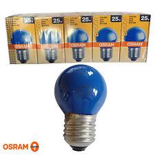 5x Osram Decor P Color blau 25W E27 Glühlampe Lampe Glühbirne Birne 25 Watt blue