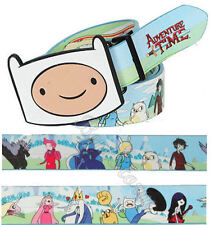 NEW Adventure Time with Finn and Jake REVERSIBLE BELT & BUCKLE Gender-Bent Group