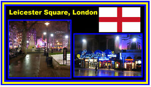 LEICESTER SQUARE, LONDON -JUMBO FRIDGE MAGNET - NEW