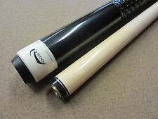 Rhino Black Pool Cue with Weaved Leatherette Wrap & FREE Shipping