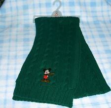 New Disney Mickey Mouse Green Knit Children's Winter Scarf